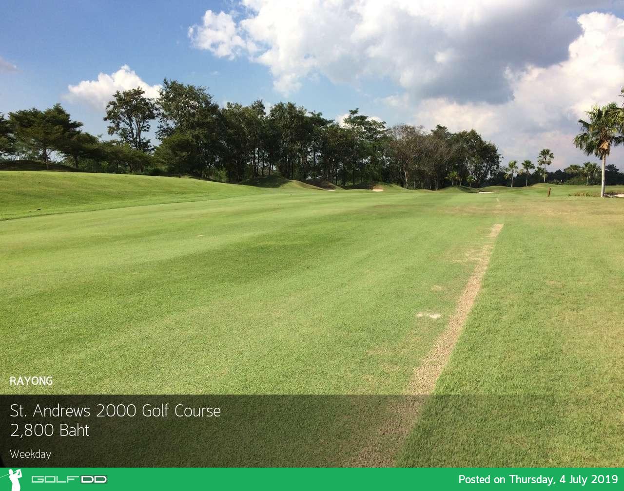 ออกรอบกันฮิ สไตล์ชิคๆ ที่ St. Andrews 2000 Golf Course ระยอง Booking Teetime กับ golfdd จ่ายเงินที่สนามได้เลย