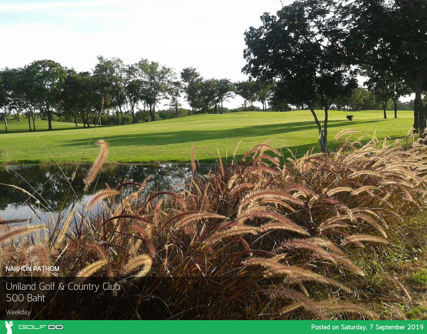 โปรลด 70% อ่านไม่ผิด ลด 70% ที่ Uniland Golf and Resort นครปฐม จองผ่าน Golfdd จ่ายหน้าสนามได้เลย