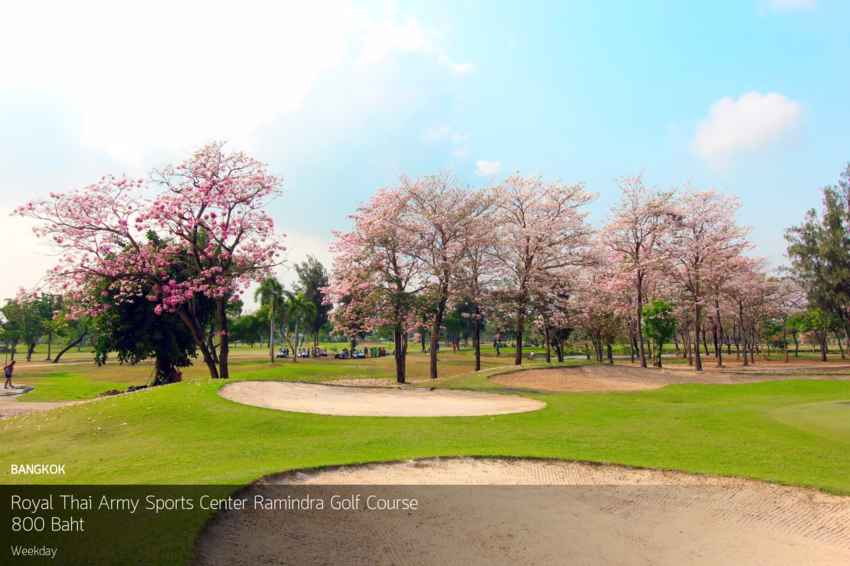 ออกรอบบนพื้นที่สีเขียวใจกลางกรุง เชิญที่ Royal Thai Army Sports Center Ramindra Golf Course พร้อม Booking Teetime กับ golfdd จ่ายเงินที่สนามได้เลย