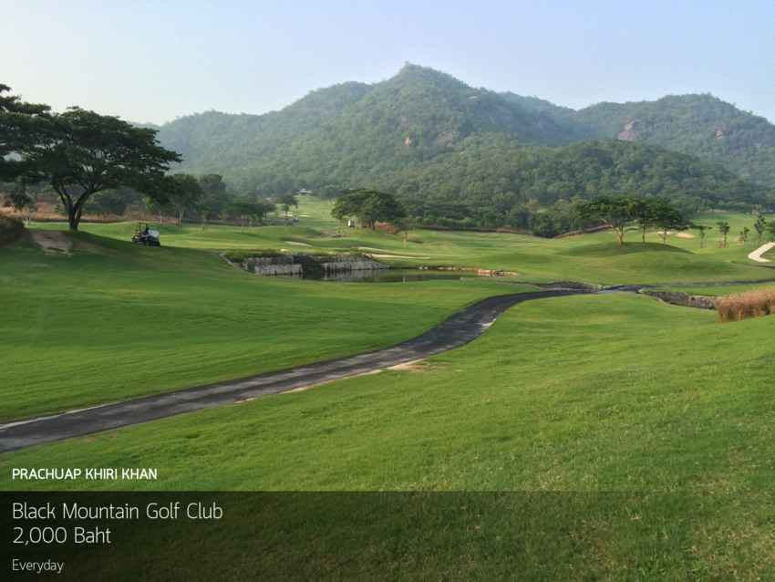 วันหยุด จัดไป ถูกใจสิ่งนี้ที่ Black Mountain Golf Club หัวหิน เชิญ Booking Teetime กับ golfdd จ่ายเงินที่สนามได้เลย