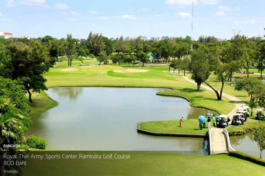 สนามกอล์ฟดีๆใจกลางเมือง เดินทางง่าย สะดวกสบาย Royal Thai Army Sports Center Ramindra Golf Course