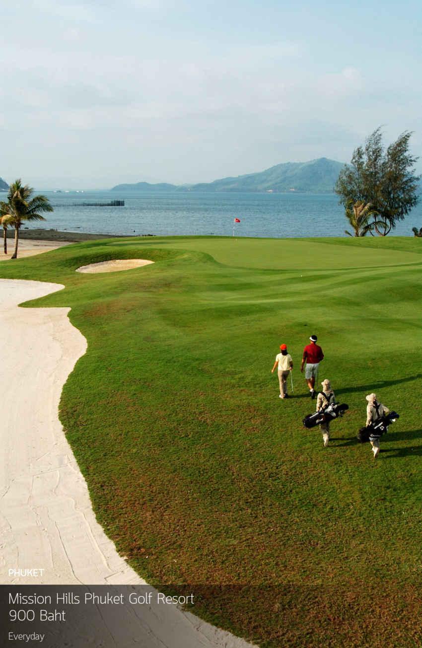 โปรใหม่โปรแรงๆกรีนฟีหลักร้อยคุณภาพหลักพันสนามสวยที่พักดีต้องที่นี้เลย Mission Hills Phuket Golf Resort