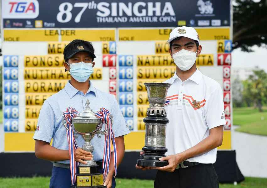 สองสวิงทีมชาติไทย คว้าแชมป์ชาย-หญิง กอล์ฟสมัครเล่นชิงแชมป์ประเทศไทย